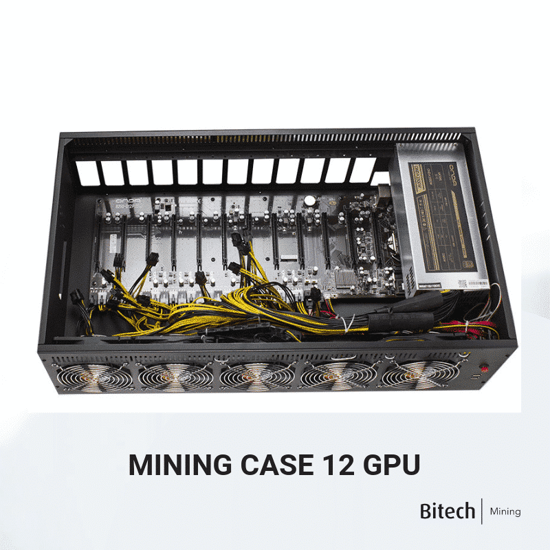 Mining Case 12 GPU FULLY EQUIPPED